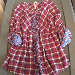 Matilda Jane plaid blouse button up 10